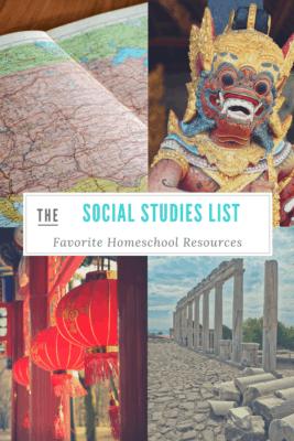 A list of favorite homeschool social studies resources